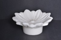 Sutra Decor Christmas Flower Candle (White, Pack Of 1)