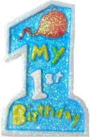 Tiger My 1st Birthday Candle (Blue, Pack Of 1)