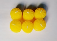 Zanky Mini Piller Candle (Yellow, Pack Of 6)