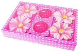 Mav Floating (Pink , Pack of 4 + 2 Tea-Lights ) Candle