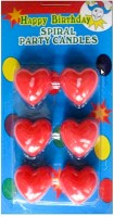 Birthdaygiftwala Heart Shaped Candle (Multicolor, Pack Of 6)