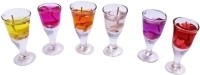 Dizionario Wine Glass Gel Shape Gel Set Of 6 Candle (Multicolor, Pack Of 6)