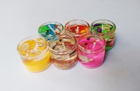 Zanky Coloured Gel Candle (Multicolor, Pack Of 6)