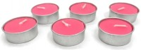 Indian Reverie Jasmine Scented Tea Lights Candle (Pink, Pack Of 6)