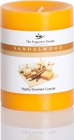 The Fragrance People Medium Pillar 3 X 4 Sandal Wood Candle (Orange, Pack Of 1)