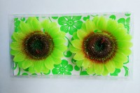 Zanky Green Sunflower Shaped Candle (Green, Pack Of 2)
