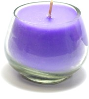 Aroma India Small Pot Votive Candle (Purple, Pack Of 1)