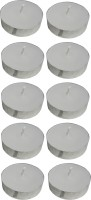 Atorakushon Scented Smokeless Tealight T-Lite Candles Pack Of 50 Candle (White, Pack Of 50)