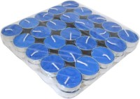Kriti Creations Set Of 50 Perfumed Tea-Lights Candle (Blue, Pack Of 50)
