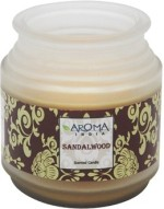 Aroma India Candles Aroma India Premium Frosted Pot Candle Sandalwood Candle
