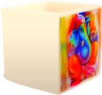 Artistique Traditional Ganpati Hurricane Candle (Multicolor, Pack Of 1)