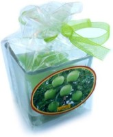Smartkshop Green Apple Glass Votive Candle (Green, Pack Of 1)