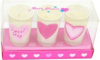 The Candle Shop Valentine Series Candle (White, Pack Of 3)
