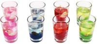 Zarsa Glass Gel Set Candle (Multicolor, Pack Of 8)