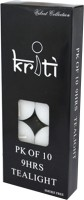 Kriti Creations Tea-Lights Candle (White, Pack Of 10)