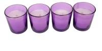 Silverlight Purple Glass Votive Candle (Purple, Pack Of 4)