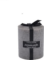 The Yellow Door Sea Breeze Scented -3x3 Candle (Grey, Pack Of 1)