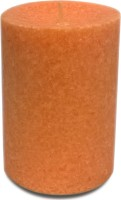 Pride & Joy Arts Marble Effect Candle (Orange, Pack Of 1)