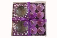 Fragrance Concoction Pack Of 8 Lavender Fragrance Votive Candle (Purple, Pack Of 1)
