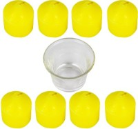 The Candle Shop Votives Candle (Yellow, Pack Of 9)