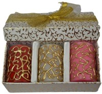 Tvish Candles Valentine Gift Set -Doodles 2x3 Box Set Candle (Multicolor, Pack Of 3)