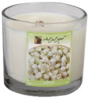 Artistique 4 Oz Clear Cup Jasmine Fragrance Candle (White, Pack Of 1)