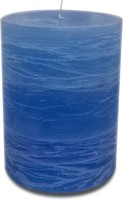 Pride & Joy Arts Rustic Candle (Blue, Pack Of 1)