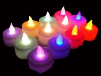 Kytes India Tealights Candle (Multicolor, Pack Of 12)