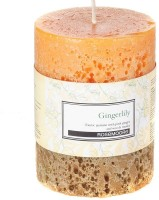 Rosemoore Scented Pillar - Gingerlily Candle (Yellow, Pack Of 1)