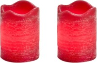 Expressme2u Flameless LED Candle (Red, Pack Of 2)