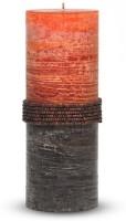 Pride & Joy Arts Rustic Beads Candle (Orange, Brown, Pack Of 1)