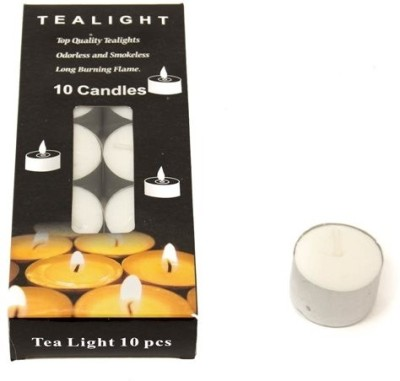 Skycandle Tea Light Candle (White, Pack Of 10)