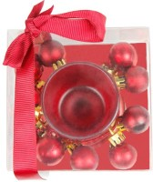The Candle Shop Christmas Candle (Red, Pack Of 3)