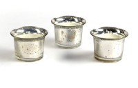 Hosley H14576 Candle (Silver, Pack Of 3)