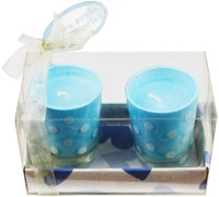 The Candle Shop Baby Blue Polka Dot Candle (Blue, Pack Of 2)