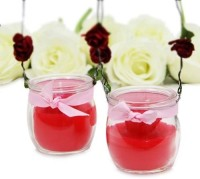 Gifts By Meeta Diwali Captivating Red Candles Candle (Red, Pack Of 2)