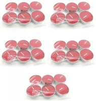 Indian Reverie Rose Scented Tea Lights Candle (Red, Pack Of 30)