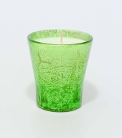 Aroma India Texture Votive Candle (Green, Pack Of 1)