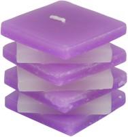 Atorakushon Scented Smokeless Star Designer Cube Pillar Candle (Purple, Pack Of 1)