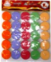 Artesana Tealight Candles Candle - Multicolor, Pack Of 25