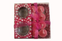 Fragrance Concoction Pack Of 8 Strawberry Fragrance Votive Candle (Pink, Pack Of 1)