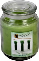 Artistique Lemongrass Fragrance In 20 Oz Round Glass Jar Candle (Green, Pack Of 1)