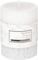 Rosemoore Scented Pillar - Egyptian Cotton Candle (White, Pack Of 1)