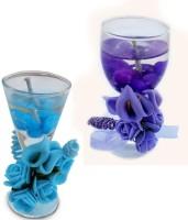 Smartkshop Scented Votive Glass , Festival Delite Set Of 2 Candle (Multicolor, Pack Of 2)