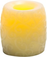 Expressme2u Flameless LED Candle (Beige, Pack Of 1)