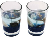 Dizionario Glass Gel Candle (Blue, Pack Of 2)
