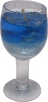 AadiShakti Glass Shape Gel Candle (Blue, Pack Of 1)