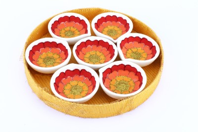 The Nodding Head Diwali Diya - Assorted Oil Candle (Multicolor, Pack Of 7)