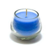 Aroma India Small Pot Votive Candle (Blue, Pack Of 1)