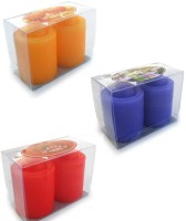 Smartkshop Smooth Pillar Midnight Scented Set Of 6 Candle (Multicolor, Pack Of 6)